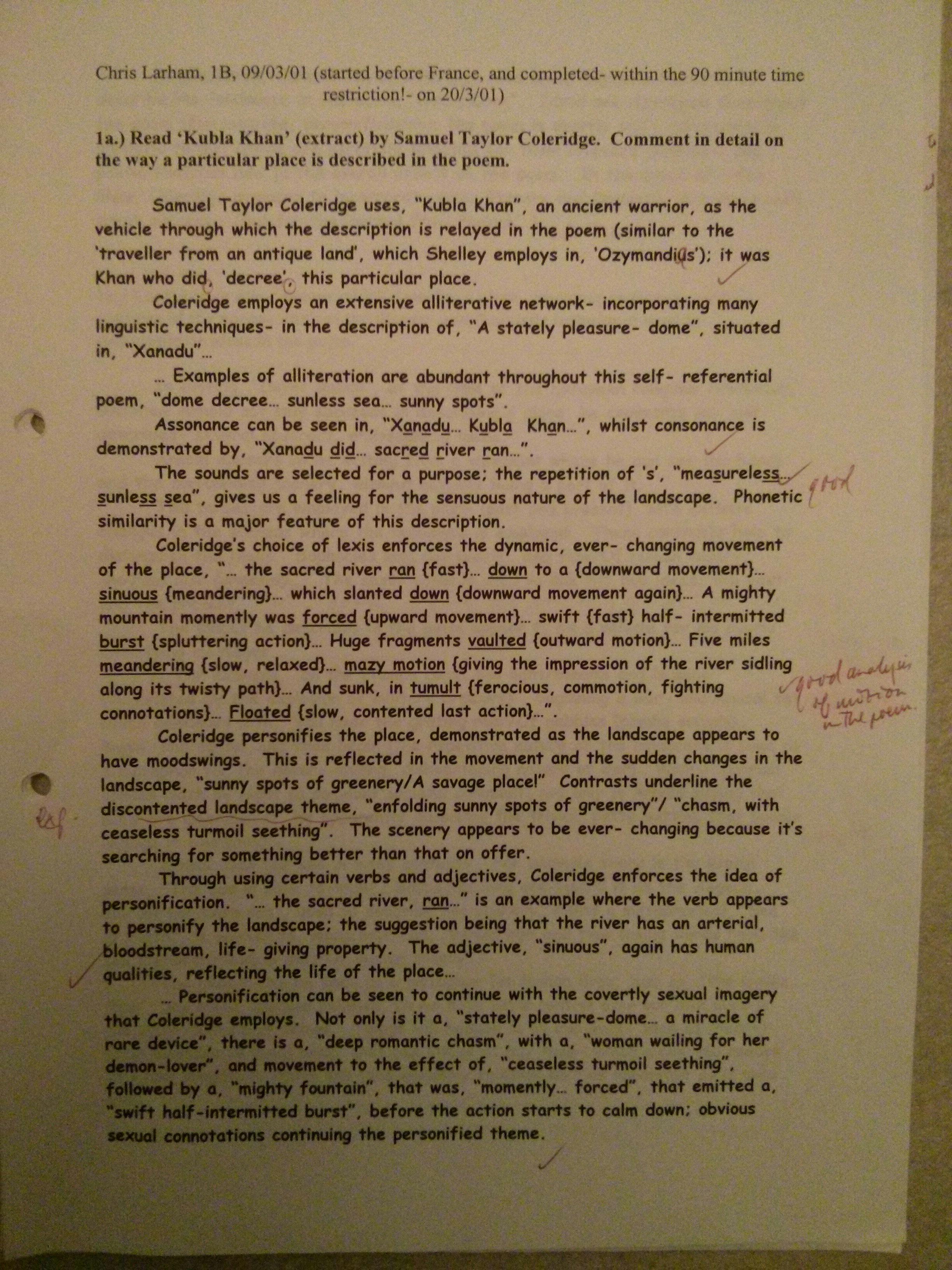 spellbound poem analysis